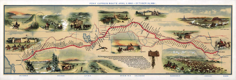 Pony Express Map Willi